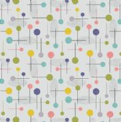 Lewis & Irene - Cocktail Party - 6537 - Cocktail Pins Geometric on Grey - A353.1 - Cotton Fabric